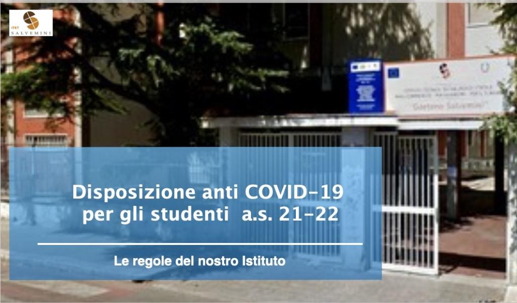 disposizioni anti covid-19 per gli studenti
